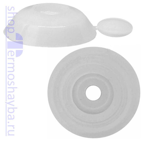 Усиленная термошайба Профи белая с резиновым уплотнителем
