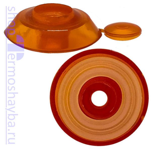 Усиленная термошайба Профи оранжевая с резиновым уплотнителем