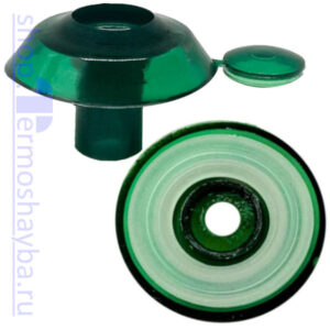 Усиленная термошайба Профи зелёная с резиновым уплотнителем