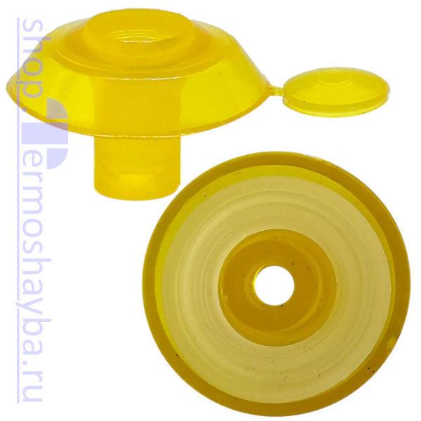 Усиленная термошайба Профи жёлтая с резиновым уплотнителем